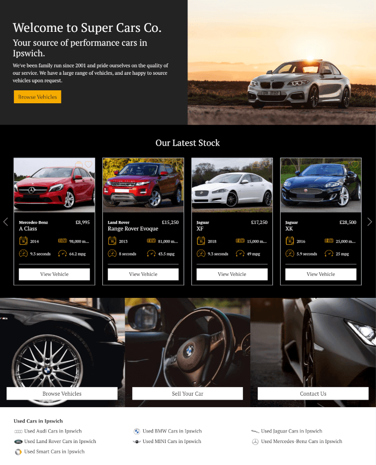 DealerDesk - Car Sales Website - Website Modules